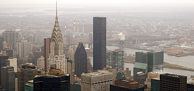 A part of the New York City skyline taken from top of the Empire State Building