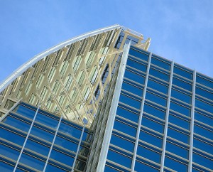 Detail of the crown structure atop 1180 Peachtree. Photo by Ryan Cramer